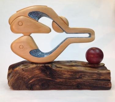 sanderson-the searching self-basswood-purple heart-driftwood
