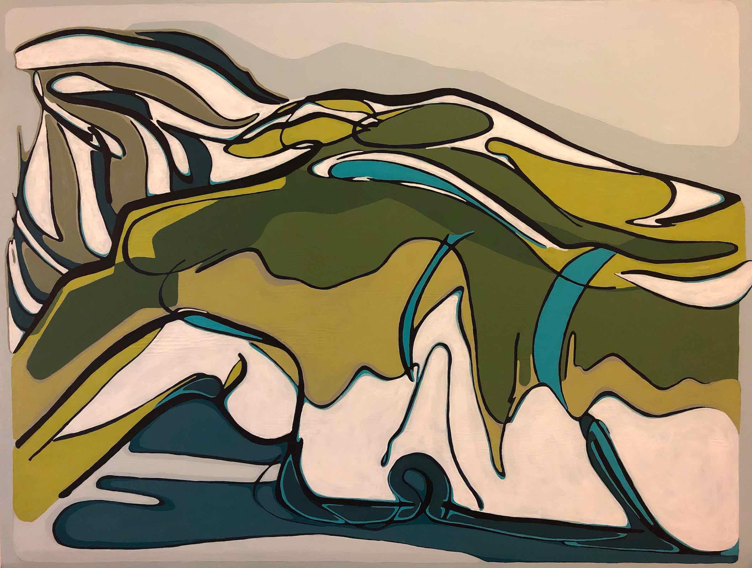 sanderson acrylic painting sleeping nude Figurative Landscape