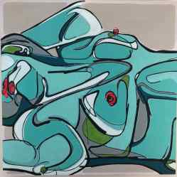 sanderson acrylic painting female nude Fragaria Vesca