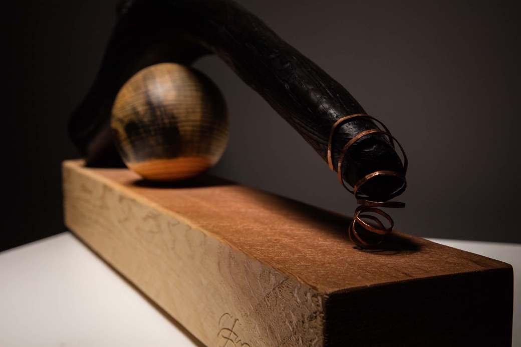 sanderson abstract sculpture driftwood, cedar beetle-kill pine