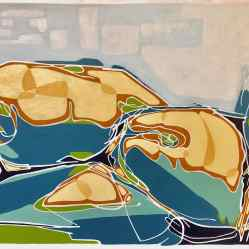 sanderson acrylic painting abstract torso Shaped by Past Events