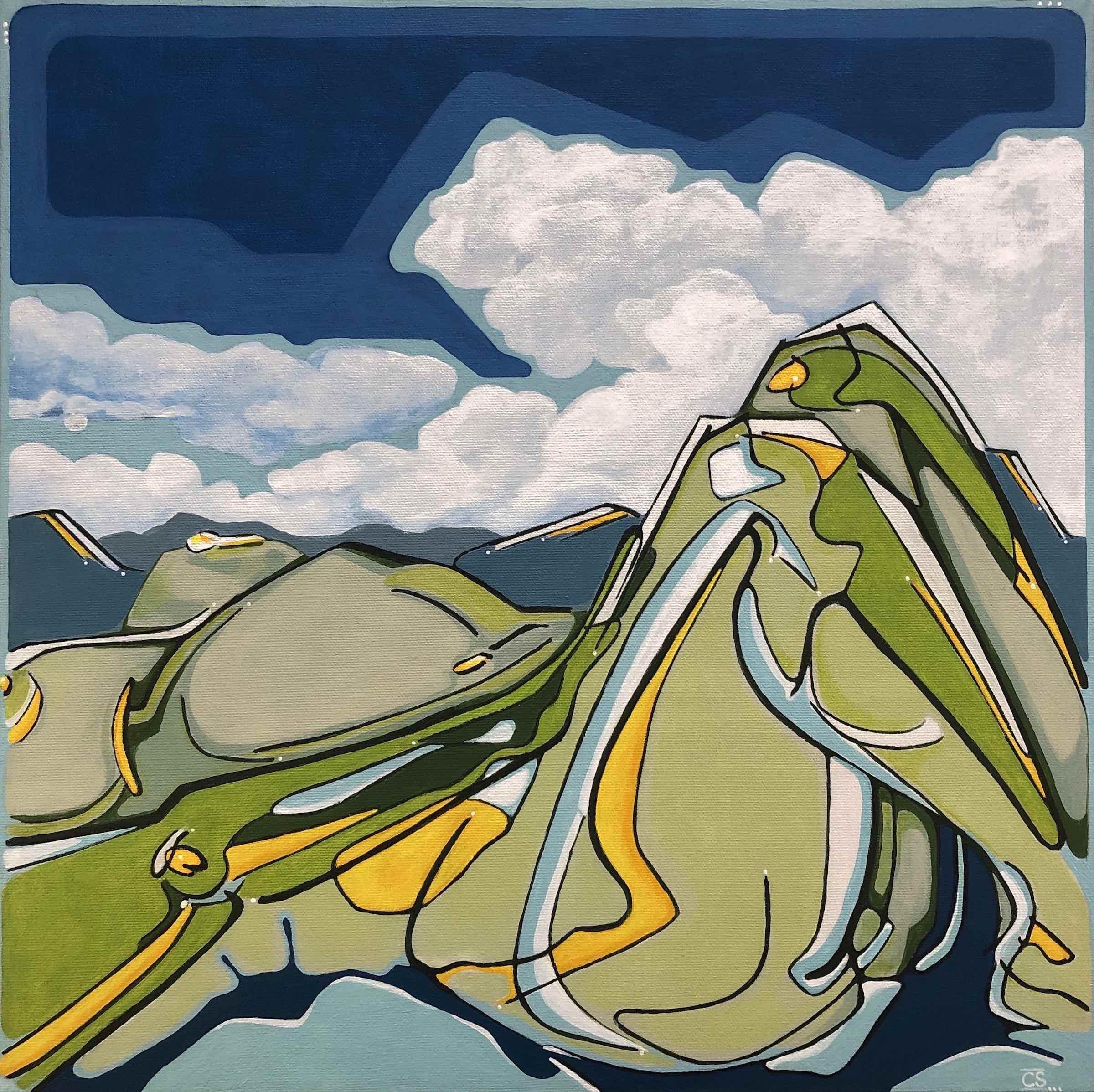 sanderson acrylic painting figurative landscape Jasper Personified